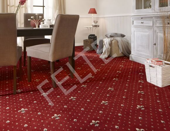 BALTA Broadloom Wellington 4957 10 (Regel Red) install site
