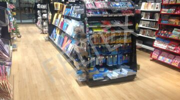 GERFLOR Creation 70 Clic System 0337 (Victoria Oak) WHSMITH BOOKSTORE install 1